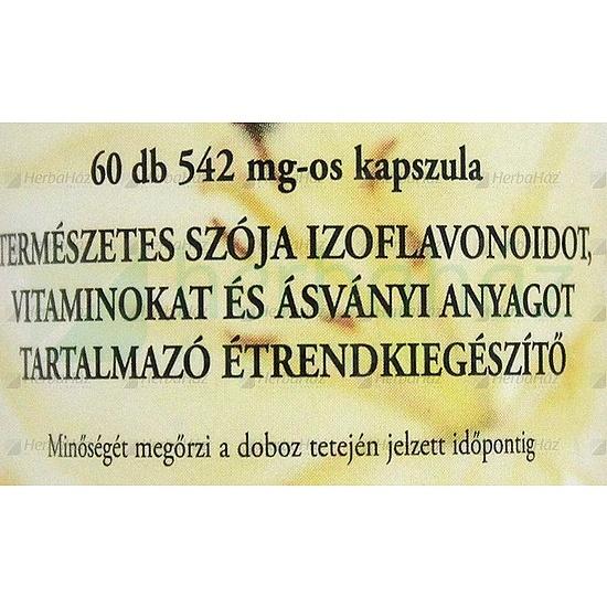 SZÓJAVIT FITOHORMON KAPSZULA 60DB