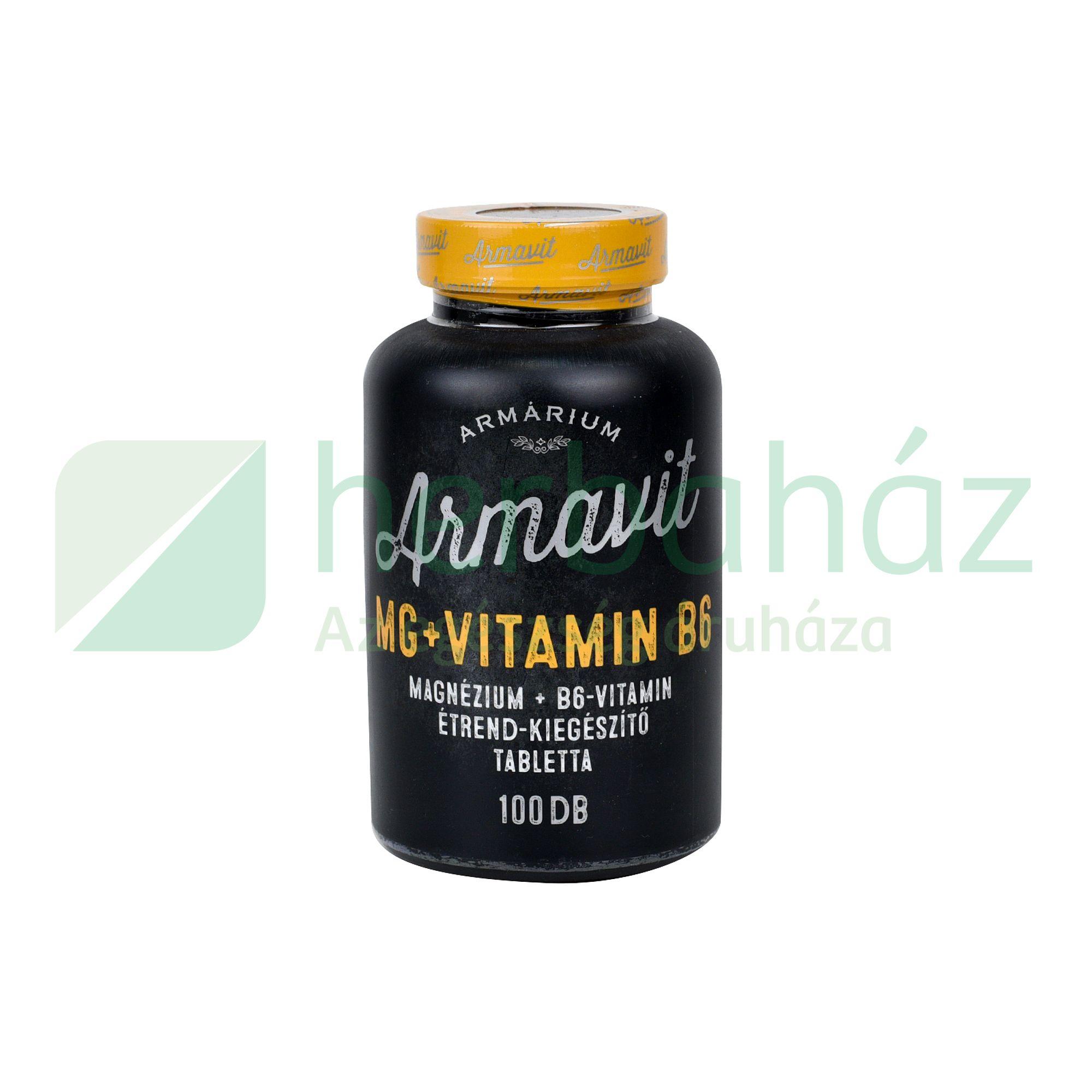 ARMÁRIUM ARMAVIT MAGNÉZIUM+B6 VITAMIN TABLETTA 100DB