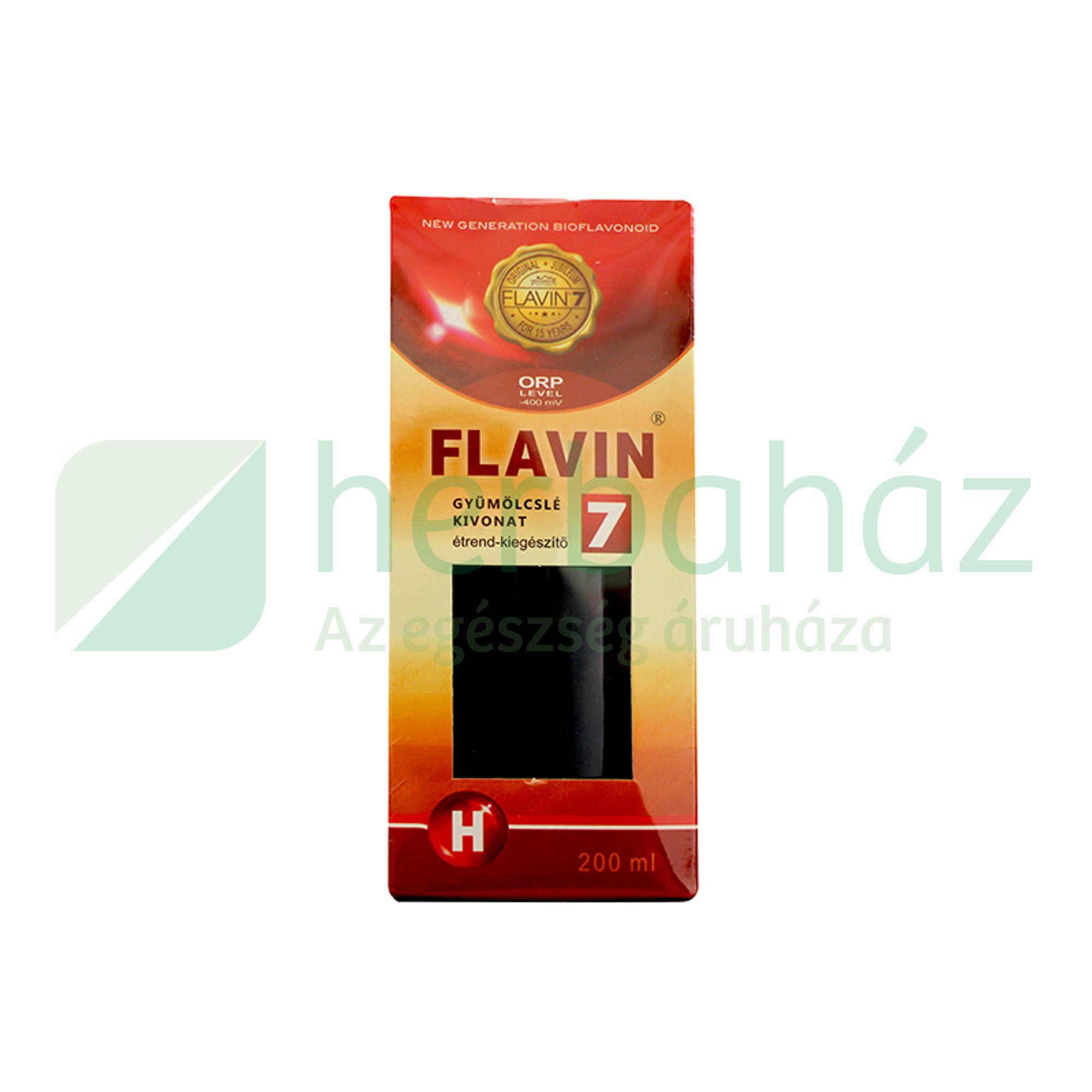 FLAVIN 7 GYÜMÖLCSLÉ KIVONAT 200ML