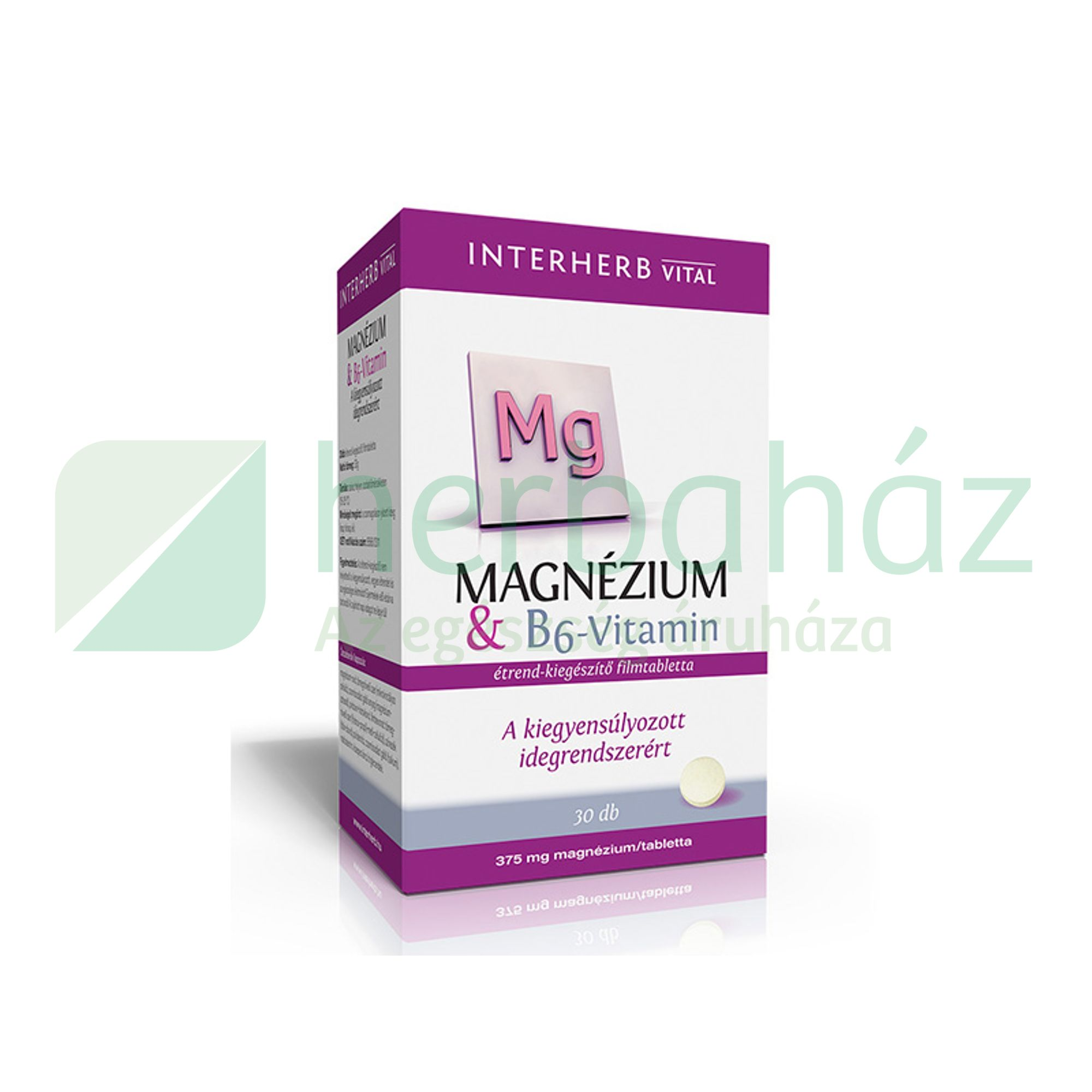 INTERHERB MAGNÉZIUM + B6 -VITAMIN TABLETTA 30DB