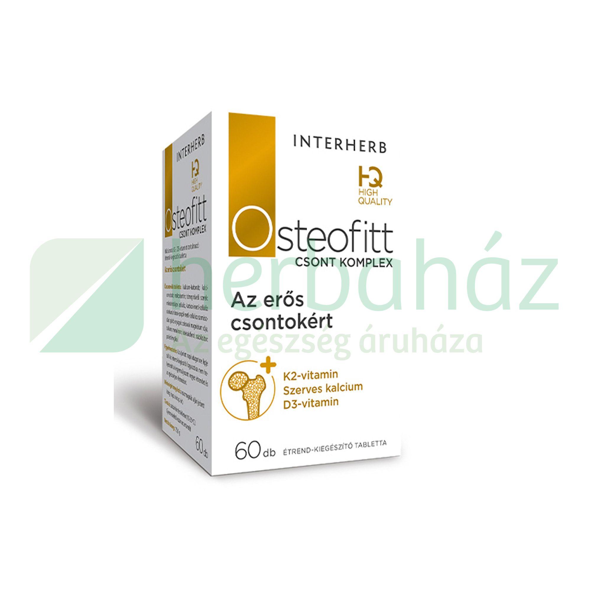 INTERHERB OSTEOFITT CSONT KOMPLEX TABLETTA 60DB