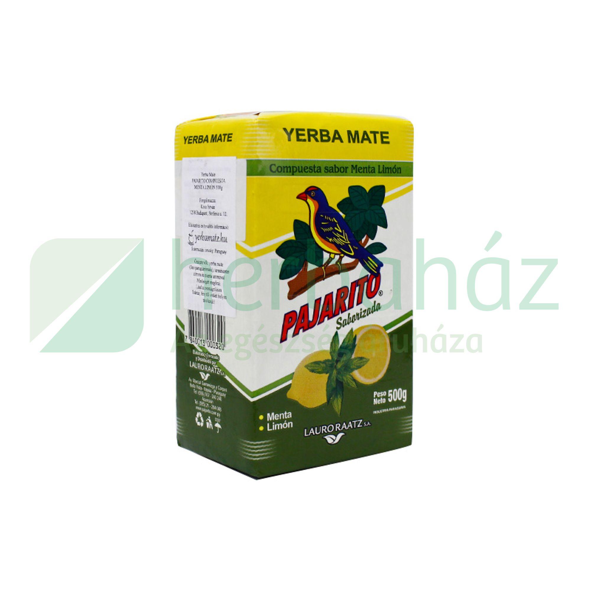 YERBA MATE TEA PAJARITO CITROM/MENTA 500G